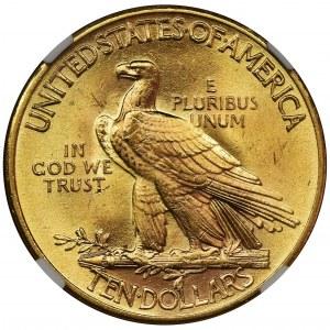 USA, 10 Dolarów Filadelfia 1932 - Indian Head - NGC MS64
