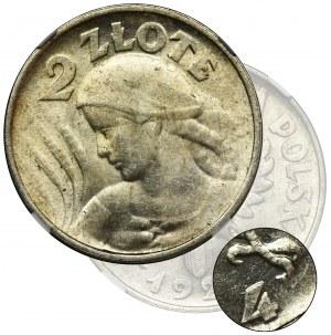 PRÓBA, Kobieta i kłosy, 2 złote Filadelfia 1924 -