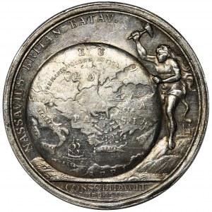 Wilhelm III, Medal 1699 - Traktat w Karłowicach - BARDZO RZADKI