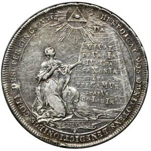 Niemcy, Bawaria, Medal zaślubinowy Maksymiliana III Józefa i Marii Anny Saskiej 1747 - EKSTREMALNIE RZADKI