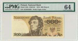 500 złotych 1976 - AE - PMG 64 - bardzo rzadka seria