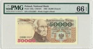 50.000 złotych 1993 - A - PMG 66 EPQ - RZADKA