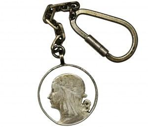 Głowa Kobiety, 5 złotych - brelok