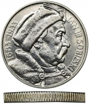 Sobieski, 10 złotych 1933 - odmienny rant
