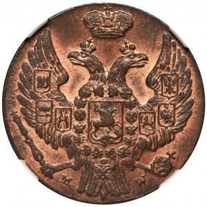 1 grosz Warszawa 1839 MW - NGC MS65 RB - KROPKA PO DACIE - WYŚMIENITY