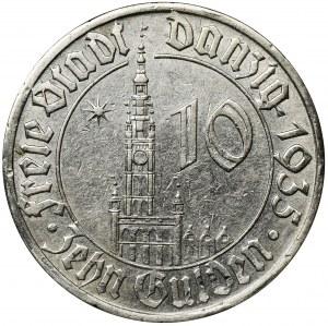 Free City of Danzig, 10 gulden 1935 - RARE