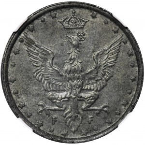 Królestwo Polskie, 10 fenigów 1917 - NGC MS63
