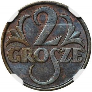2 grosze 1928 - NGC MS64 BN