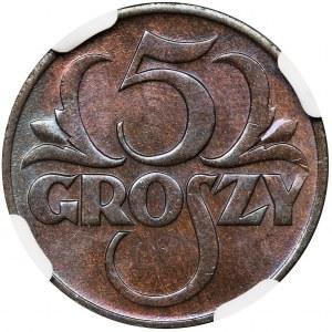 5 groszy 1928 - NGC MS66 BN