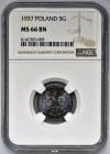5 groszy 1937 - NGC MS66 BN