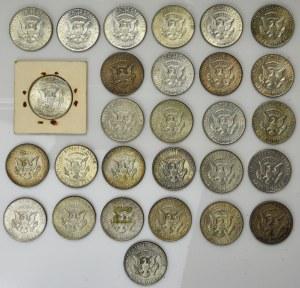 USA, lot of 50 cents 1965-1969 (28 pcs.) - SILVER