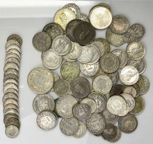 Zestaw, Szwajcaria, Dużo monet - SREBRO