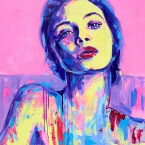 Joanna Jamielucha, Portret na różowym tle
