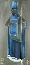 Jacek SROKA (ur. 1957), Biskup LEFEBRE - cykl 4 obrazów, 1999