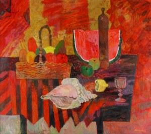 JAN SZANCENBACH (1928-1998), Muszle i kawon, 1990