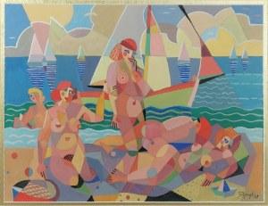Józef POPCZYK (1890-1971), Na plaży, 1928