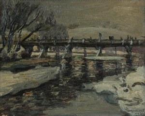 Stanisław BORYSOWSKI (1906-1988), Motyw zimowy z mostem