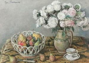 Ignacy PIEŃKOWSKI (1877-1948), Martwa natura z kwiatami i owocami