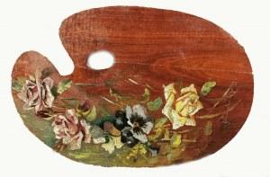 Mieczysław REYZNER (1861-1941), Paleta z kompozycją kwiatową