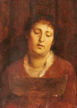 Szymon BUCHBINDER (1853-1908), Kobieta ze sznurem pereł