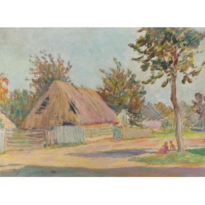 Tadeusz BARWECKI-SZEWCZYK (1912-1999), Scena wiejska, 1970