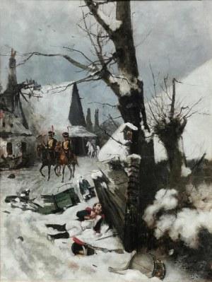 Stanisław FABIAŃSKI (1865-1947), Patrol napoleoński, 1891