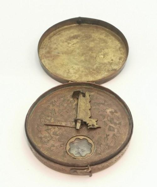 Przenośny zegar słoneczny z kompasem