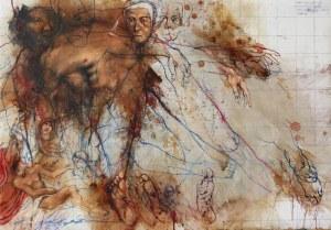 Adam NOWACKI, Mourning (insp. by Hans Baldung, gen. Grien Mourning Christi), 2020 r.