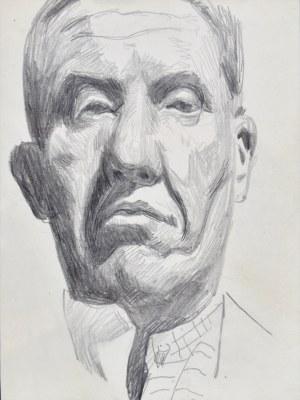Stanisław Kamocki (1875-1944), Autoportret - głowa ujęta od dołu