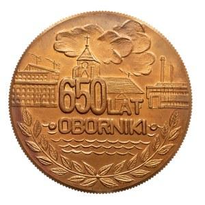 Polska, PRL 1944-1989, medal OBORNIKI, 650 LAT 1989.