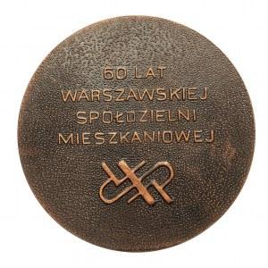 Polska, PRL 1944-1989, Medal WARSZAWA, 60 LAT SPÓŁDZIELNI MIESZKANIOWEJ.