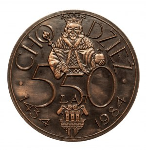 Polska, PRL 1944-1989, medal CHODZIEŻ, 550 LAT 1984.
