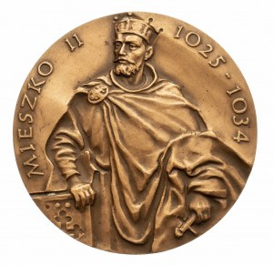 Polska, PRL 1944-1989, medal z serii królewskiej Oddziału Koszalińskiego PTN - Mieszko II.