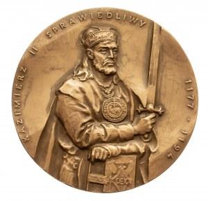 Polska, PRL 1944-1989, medal z serii królewskiej Oddziału Koszalińskiego PTN - Kazimierz II Sprawiedliwy.