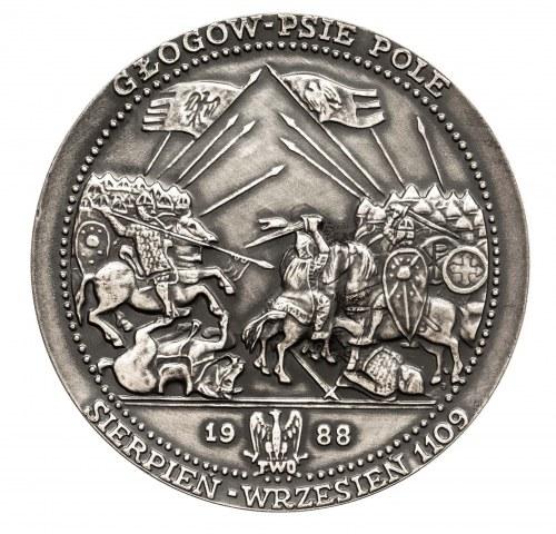 Polska, PRL 1944-1989, medal Bolesław III Krzywousty, Głogów - Psie Pole 1988.