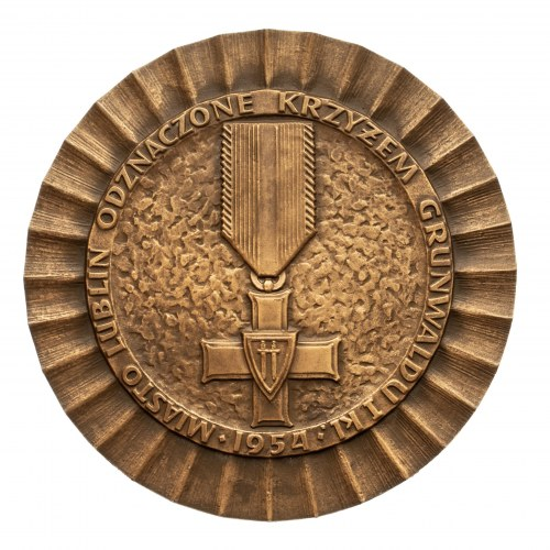 Polska, PRL 1944-1989, medal Władysław Łokietek, Prawa Miejskie Lublina.