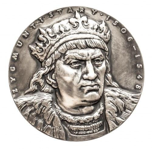 Polska, PRL 1944-1989, medal Zygmunt I Stary, Prawa Miejskie Włodawy, 1978.