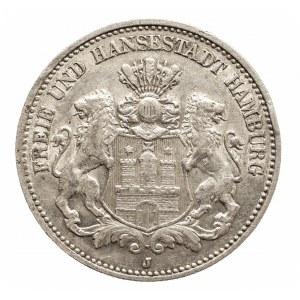 Niemcy, Cesarstwo Niemieckie 1871-1918, Hamburg, 2 marki J, Hamburg