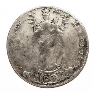 Niemcy, Biskupstwo Würzburg, 20 Kreuzer 1763 L, Adam Friedrich von Seinsheim 1755-1779.
