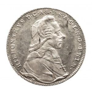 Austria, Biskupstwo Salzburg, 20 kreuzer 1787 M, Hieronymus Graf Colloredo 1772-1803.