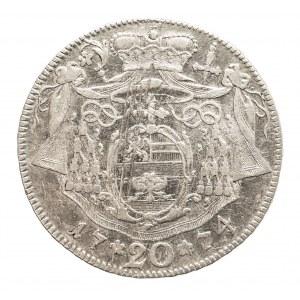 Austria, Biskupstwo Salzburg, 20 kreuzer 1774 M, Hieronymus Graf Colloredo 1772-1803.