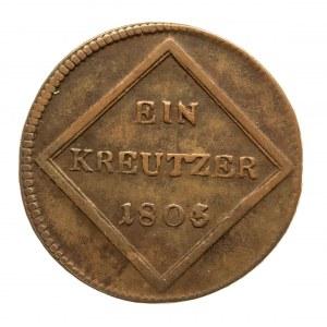 Austria, Biskupstwo Salzburg, kreuzer 1805, Kürfürst Ferdinand 1803-1806.