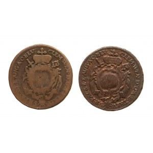 Niemcy, Biskupstwo Augsburg, zestaw dwóch krajcarów 1773 G, 1774 G, Clemens Wenzel von Sachsen 1768-1794.
