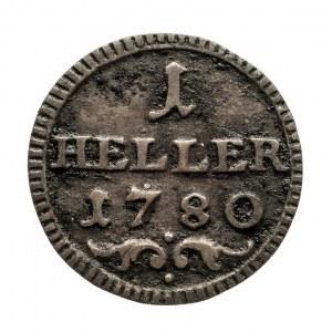 Niemcy, Biskupstwo Bamberg, Heller 1780 Nürnberg Franz Ludwig von Erthal 1779-1795.