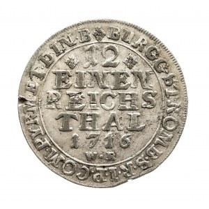 Niemcy, Biskupstwo Monastyr, 1/12 talara 1716, Franz Arnold von Metternich 1706-1718.