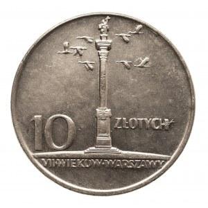 Polska, PRL 1944-1989, 10 złotych 1966 mała kolumna Zygmunta