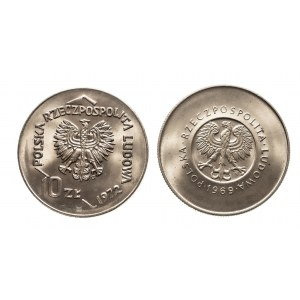 Polska, PRL 1944-1989, zestaw monet dziesięciozłotowych - 2 sztuki