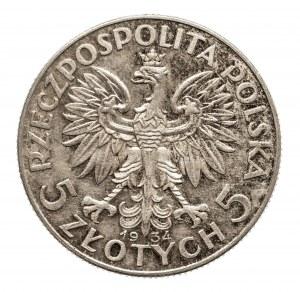 Polska, II Rzeczpospolita 1918-1939, 5 złotych 1934 Kobieta, Warszawa