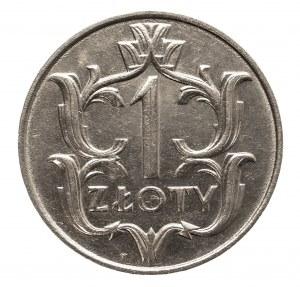 Polska, II Rzeczpospolita 1918-1939, 1 złoty 1929, nikiel, Warszawa