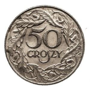 Polska, Generalna Gubernia 1939-1945, 50 groszy 1838, Warszawa, żelazo niklowane